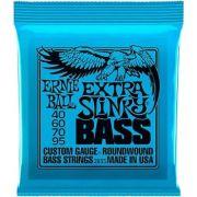 Encordoamento Contra Baixo Ernie Ball Extra Slinky Bass 040 4 Cordas