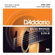 Encordoamento D'Addario Violão Aço EJ10-B 010