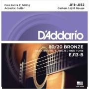 Encordoamento D'Addario Violão Aço EJ13-B 011