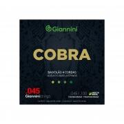 Encordoamento Giannini para Baixolão 4 cordas Cobra Fósforo Bronze GEEBASF (.045 – .100)