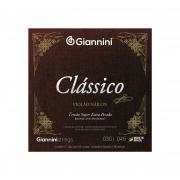 Encordoamento Giannini  para Violão Náilon 6 cordas Clássico Bronze 65/35 GENWSXPA Super Extra Pesada