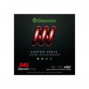 Encordoamento Giannini para Baixo 4 cordas Nickel Round Wound GEEBRS (.045 – .100)