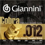 Encordoamento Violão Aço Giannini Cobra 012 Fósforo Bronze