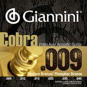 Encordoamento Violão Aço Giannini Cobra Phosphor Bronze 009