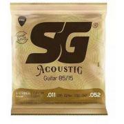 Encordoamento Violão Aço SG Bronze 011
