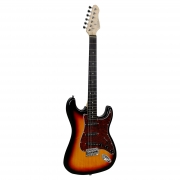 Guitarra Elétrica Giannini G-100 3 Tone Sunburst com escudo Tortoise (3TS/TT)