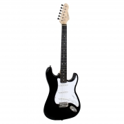 Guitarra Elétrica Giannini G-100 Black com escudo White (BK/WH)