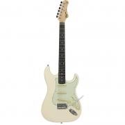 Guitarra Tagima TG-500 Olympic White Com Escudo Mint Green