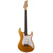 Guitarra Tagima TG-520 Metallic Gold Yellow Com Escudo Pearloid White