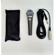 Microfone PZ Profissional Com Fio PZ58B