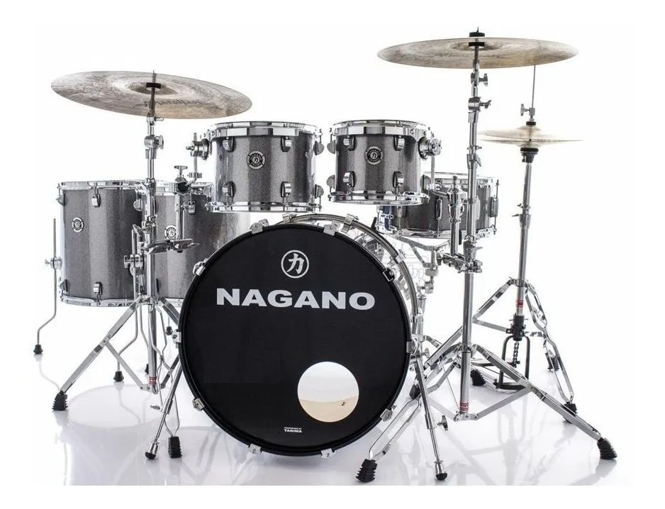 Bateria Nagano Concert Celluloid Birch 22/10/12/14/16/CX14X6,5 Iron Sparkle Com Ferragens