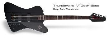 Contra Baixo Epiphone Thunderbird Gothic IV