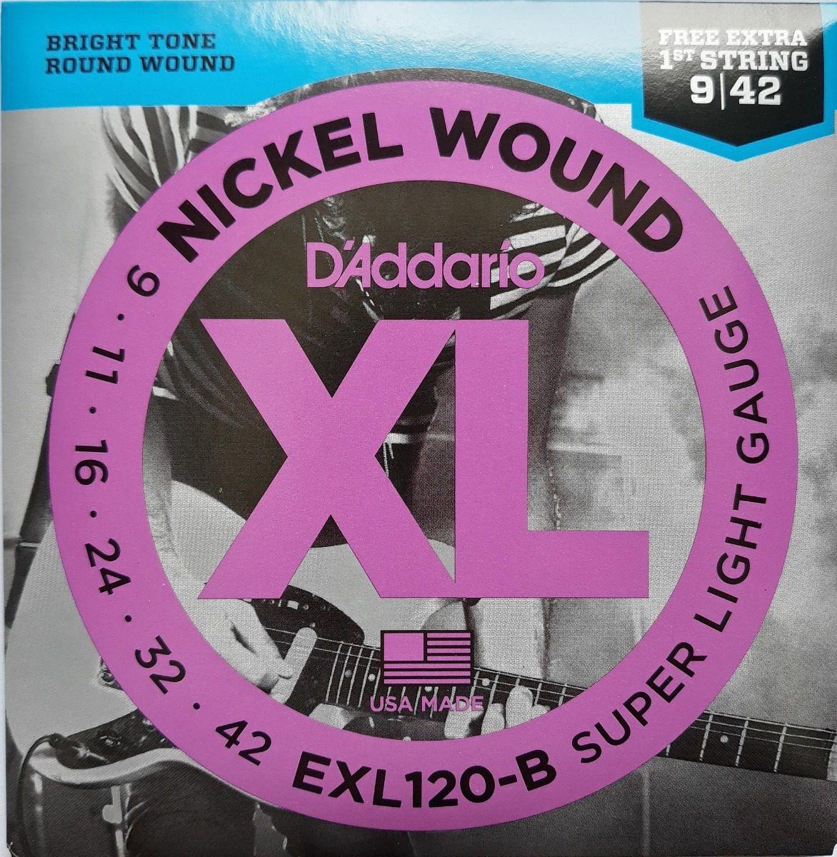 Encordoamento D'Addario Guitarra EX120-B 09