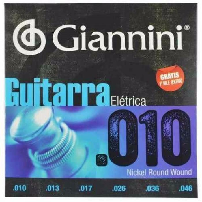 Encordoamento Giannini Guitarra 010 - 046