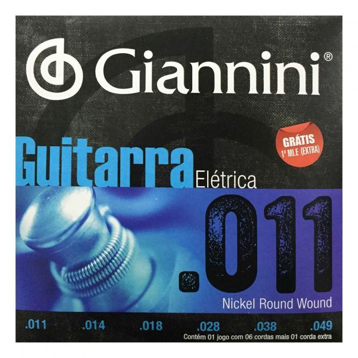 Encordoamento Giannini Guitarra 011 - 049