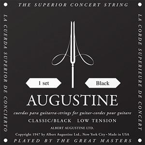Encordoamento Violão Nylon Augustine Classic Black - Tensão Leve