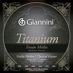 Encordoamento Violão Nylon Giannini Titanium Tensão Média