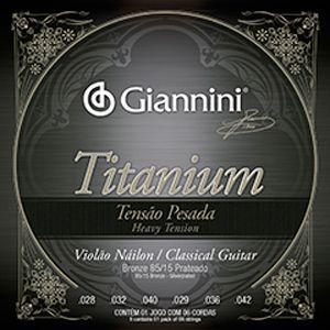 Encordoamento Violão Nylon Giannini Titanium Tensão Pesada
