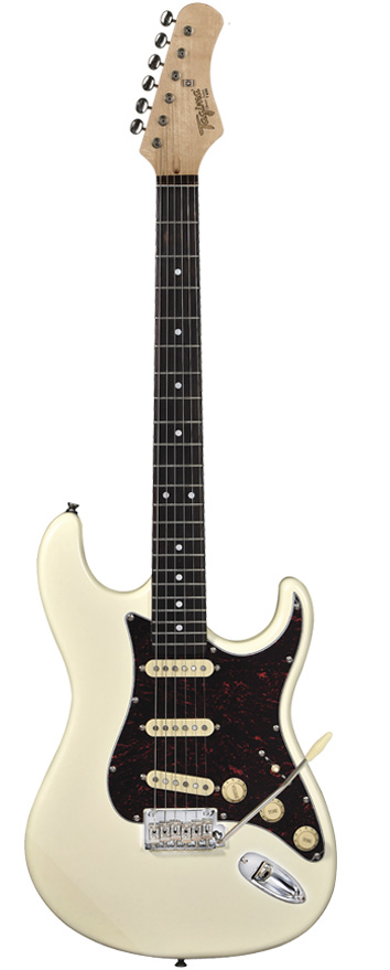 Guitarra Tagima T-635 Olympic White com escudo Tortoise