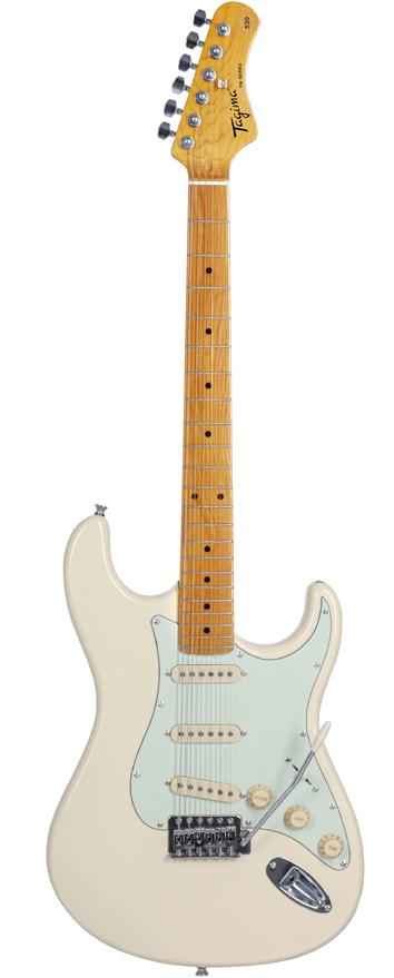 Guitarra Tagima TG-530 Olympic White com escudo Mint Green (OWH/MG)