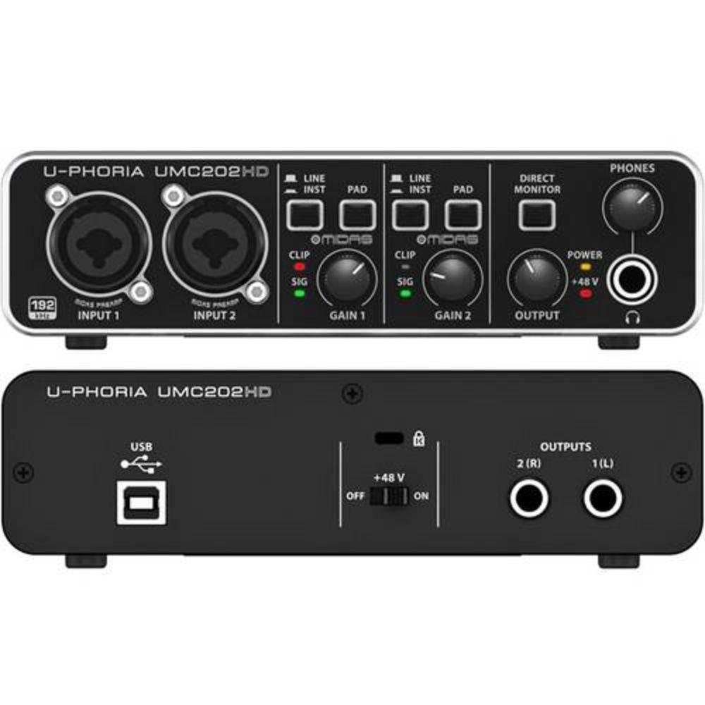 Interface Behringer U-PHORIA UMC202HD