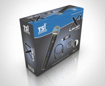 Microfone TSI Sem Fio X1-UHF