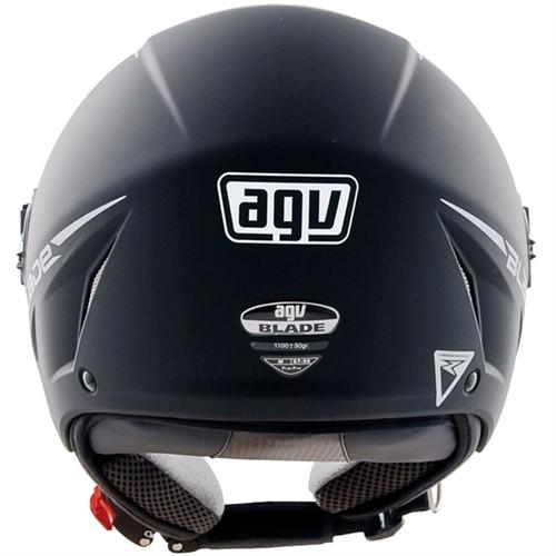 Capacete Agv Blade Aberto Mono Preto Fosco Equipe A Moto Center