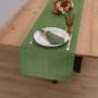 Caminho de Mesa Casa Argivai Glamour Tropical Dupla Face Verde 40cm x 1,80m