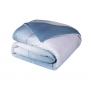 Edredom Queen CasaComCasa Azul do Amanhecer Dupla Face Microfibra