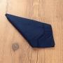 Kit 4 peças Guardanapo de Tecido Casa Argivai À Jour Navy (Azul Marinho) Percal 100% Algodão
