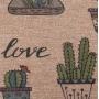 Tapete Para Casa / Cozinha CasaComCasa Vaso de Suculentas Emborrachado 45cm x 1,20m (1 peça)
