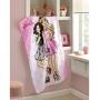 Toalha de Banho Infantil Dohler Barbie 100% Algodão - Gramatura: 330g/m²