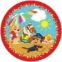 Toalha de Praia Infantil Redonda Lepper Aveludada Patrulha Canina - Estampa Surpresa