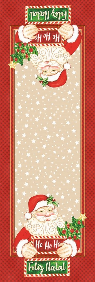 Caminho de Mesa Lepper Papai Noel 35cm x 1,00m