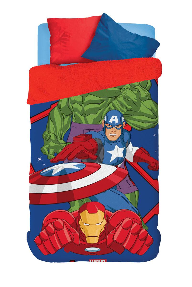 Coberdrom Infantil Lepper Personagens Vingadores (Avengers) Fleece Dupla Face Solteiro