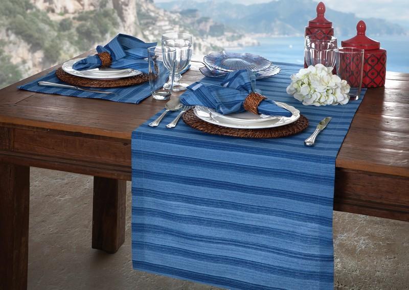 Kit 4 peças Guardanapo de Tecido Naturalle Amalfi Azul