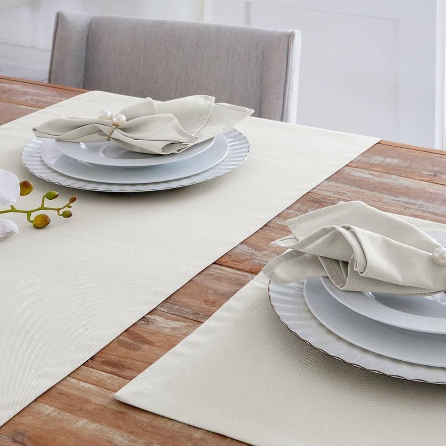 Kit 4 Peças Guardanapo de Tecido Naturalle Limpeza Prática Mesa Lisa Off White