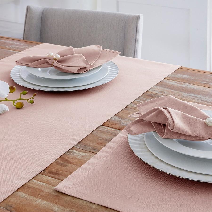 Kit 4 peças Guardanapo de Tecido Naturalle Limpeza Prática Mesa Lisa Rosé