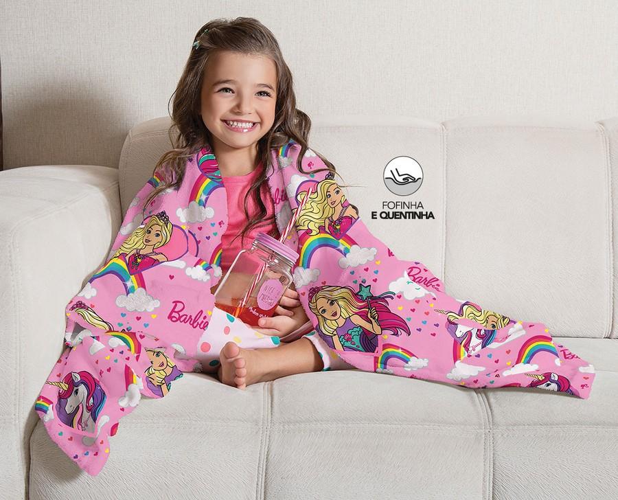Manta Infantil de Sofa Fleece Lepper Barbie Reinos Magicos