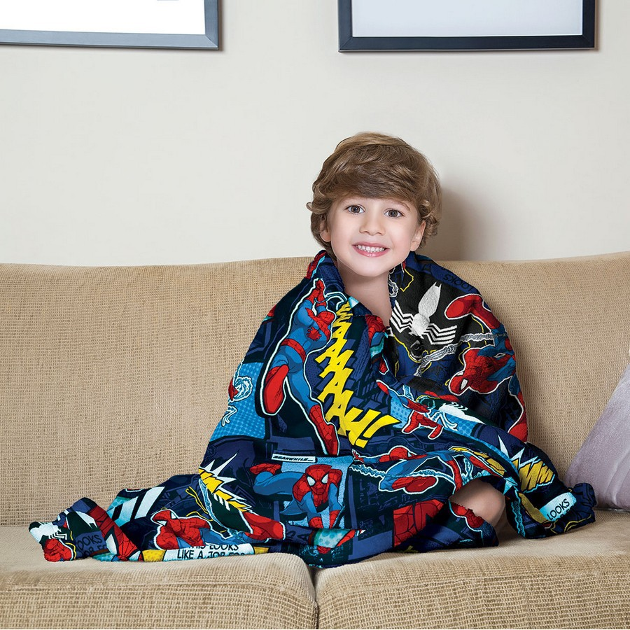Manta Infantil de Sofa Fleece Estampada Spider Man - Lepper