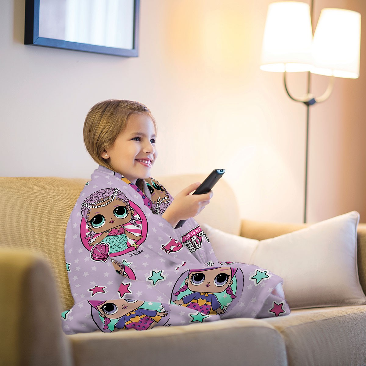 Manta Infantil de Sofa Fleece Estampada LOL - Lepper