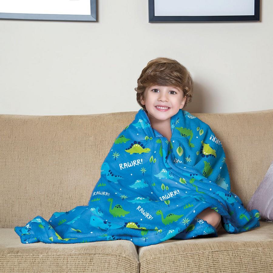 Manta Infantil de Sofa Fleece Estampada Dino - Lepper