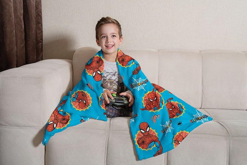Manta Infantil de Sofá Fleece Lepper Homem-Aranha