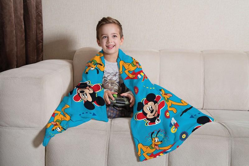 Manta Infantil de Sofá Fleece Lepper Mickey e Pluto