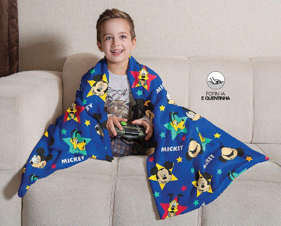Manta Infantil de Sofá Fleece Estampada Mickey - Lepper