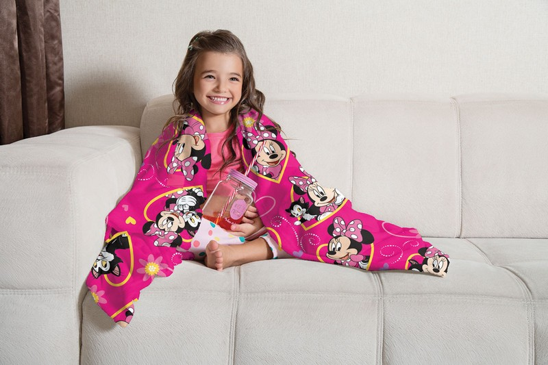 Manta Infantil de Sofá Fleece  Lepper Minnie Pink