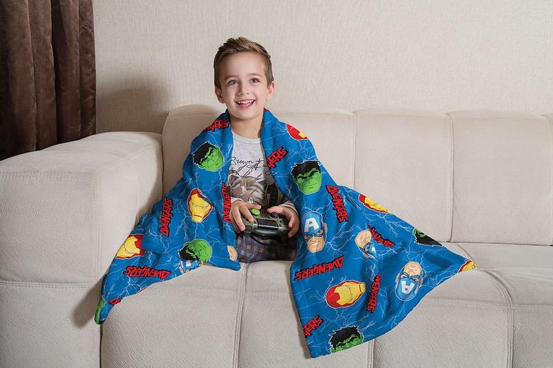 Manta Infantil de Sofá Fleece Lepper Vingadores