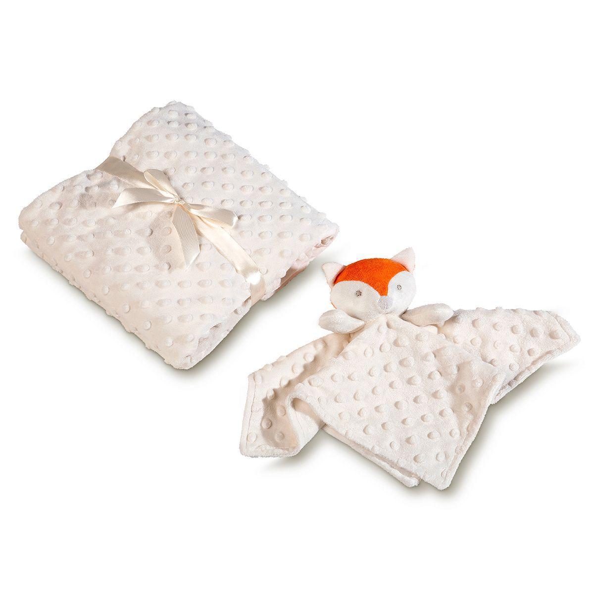 Manta para Bebê Fleece Raposa com Naninha - Lepper
