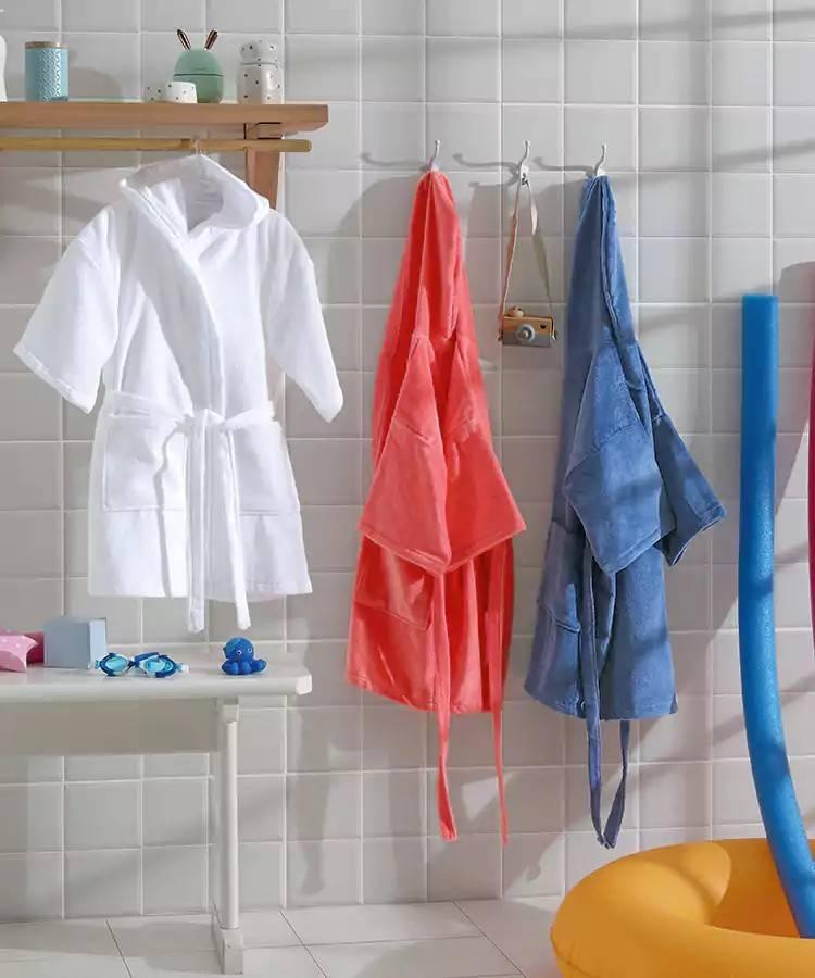 Roupão Infantil Dohler JU-09 Kids Aveludado Com Capuz 100% Algodão - Gramatura: 286 g/m²