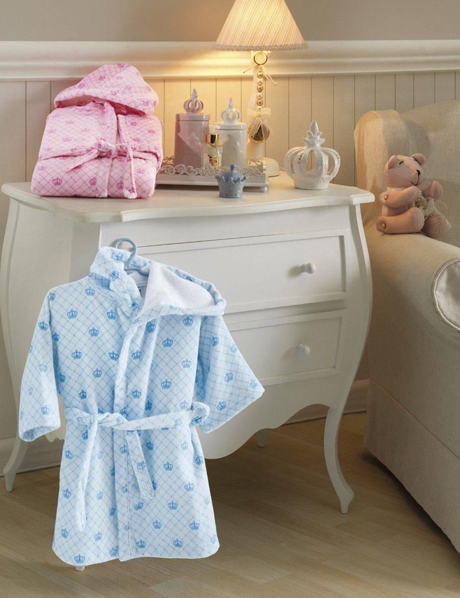Roupão para Bebê com Capuz Judoca Princes Velour - Dohler